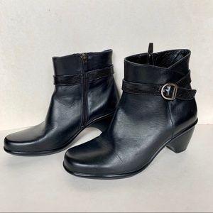 Dansko black leather booties